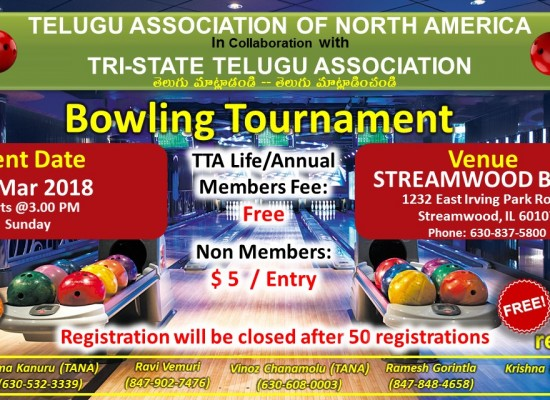 TTA Bowling 2018 Tourney 24-Feb